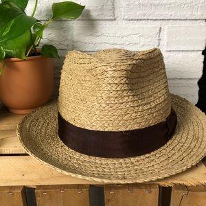 e0636ddf71b0d SOLD - Brixton Men Short Brim Straw Fedora Hat X-L ...